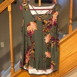 Maurices floral tank.